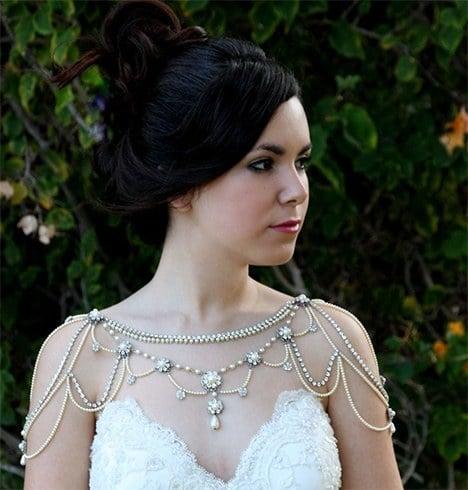 Shoulder necklace for bride