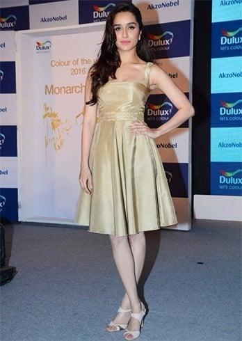 Shraddha Kapoor in Swapnil Shinde dress