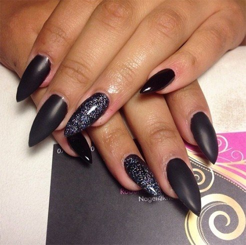 Simple Stiletto Nail Designs