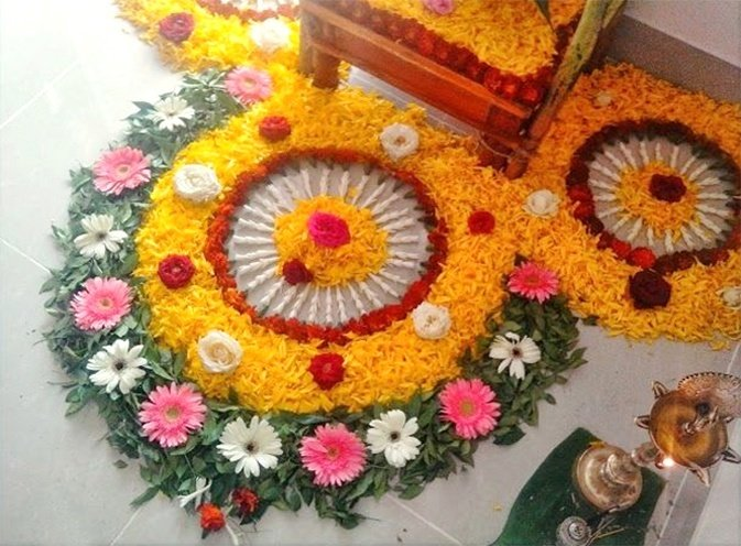 latest flower rangoli designs 2018 that will steal your