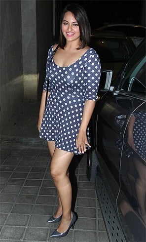Sonakshi Sinha in Polka Dot Dress