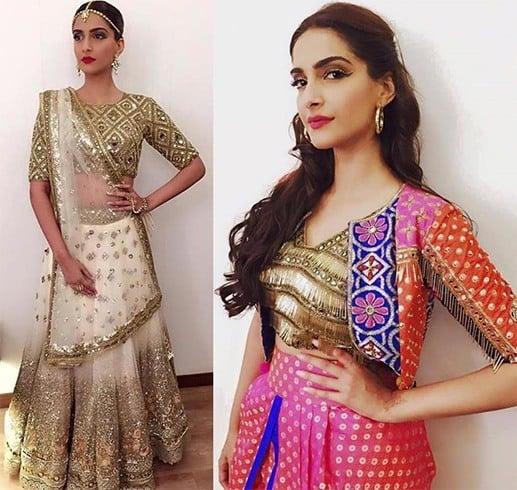 Sonam Kapoor in Arpita Mehta outfits