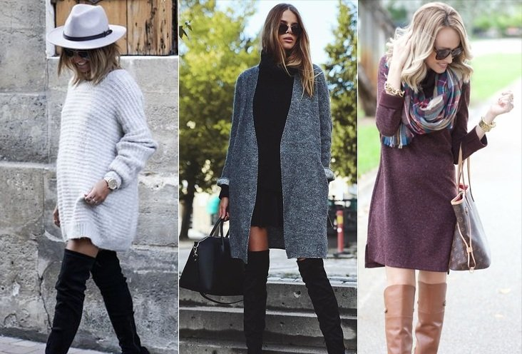 sweater dress fashion