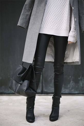 Sweaters And Leather Pants