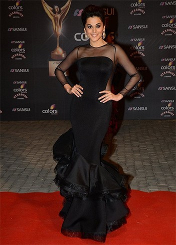 Taapsee Pannu in Nikhil Tandon- gown