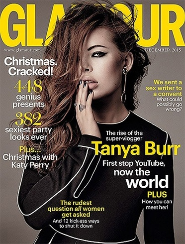 Tanya Burr on Glamour