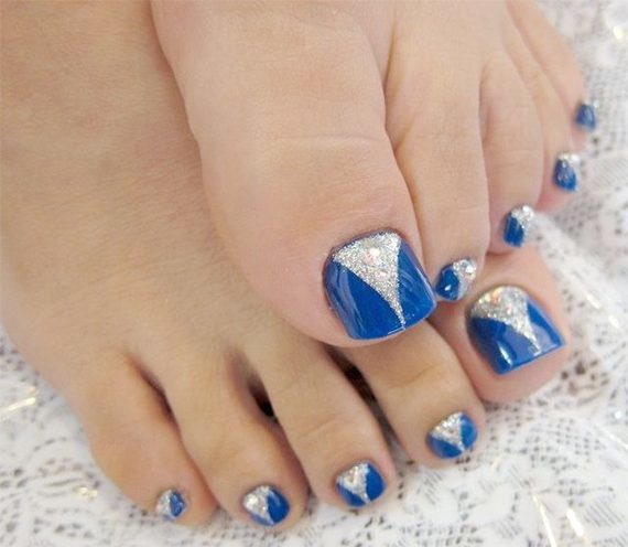 Two Tone Toenail - 35 Easy Toe Nail Designs That Are Totally Worth Your Time