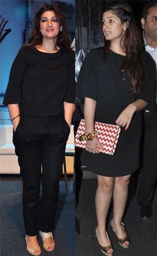 Twinkle Khanna in Black Outfits