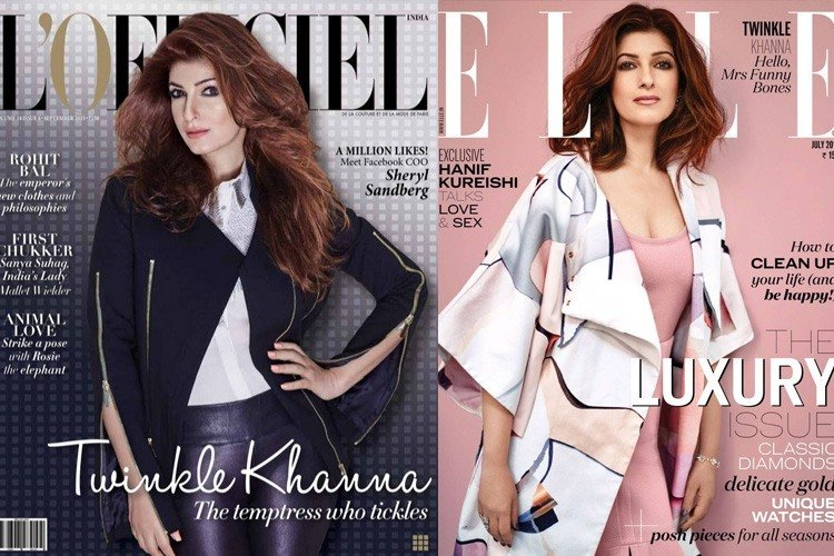 Twinkle Khanna on Magazine Covers