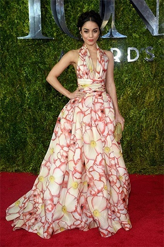 Vanessa Hudgens Tonys red carpet