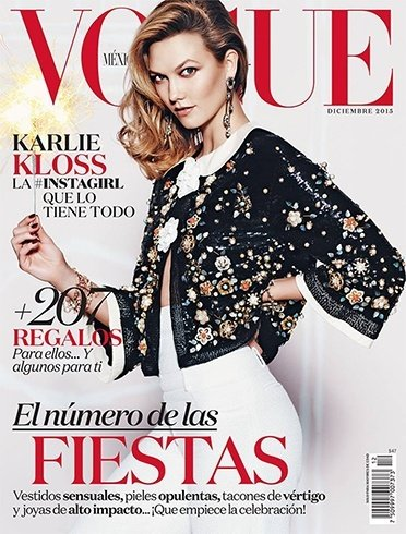 Vogue December 2015 magazine covers