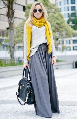 ways to wear winter scarves for womens