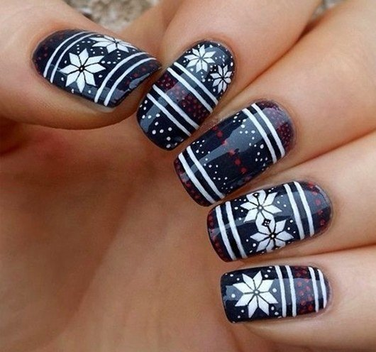 winter nailart designs - 130 Easy And Beautiful Nail Art Designs 2018 Just For You
