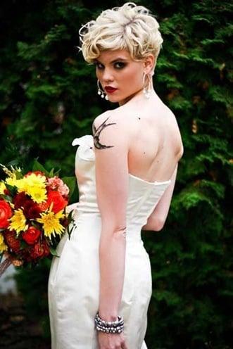 womens Wedding Hairstyles for Short Hair