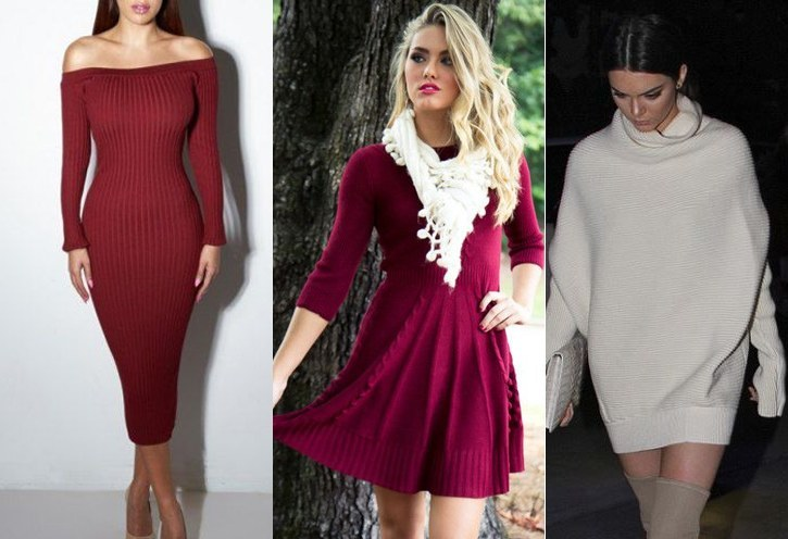 womens sweater dress outfit ideas