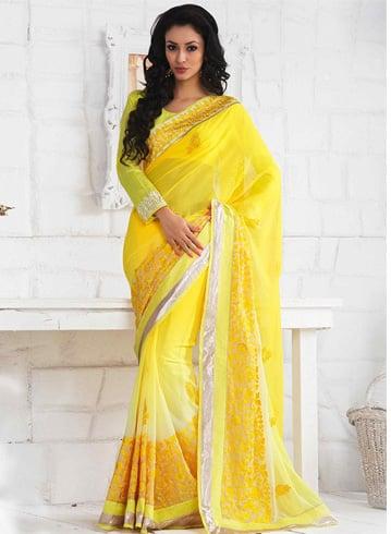 Aari Work Border Designs On Sari