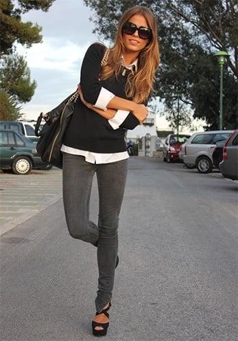 Best Grey Skinny Jeans