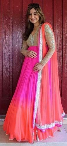 Bright pink colour