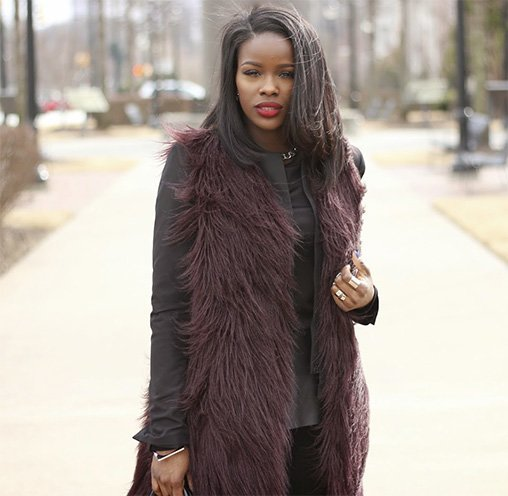 Cool Ways to Wear a Faux Fur Vest