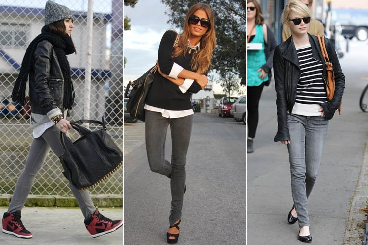 How To Wear Grey Jeans