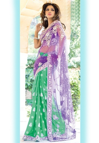Indian Embroidered Saree