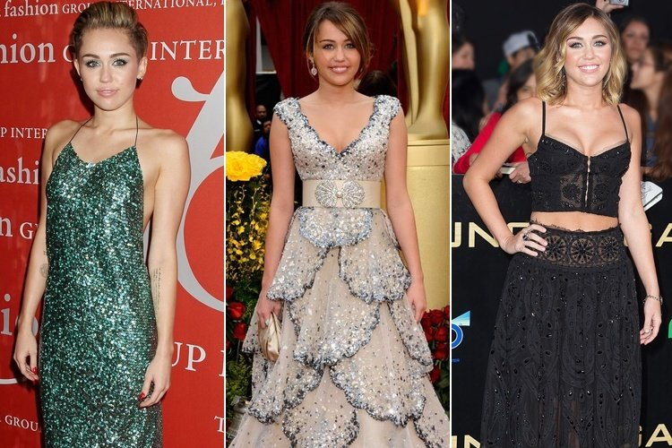 Miley Cyrus Best Red Carpet Dresses