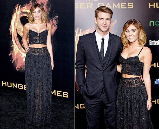 Miley Hunger Games World Premiere