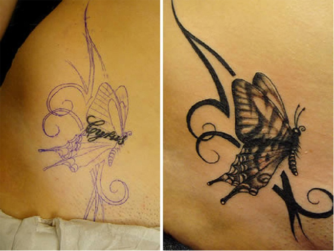 Small tattoo cover up ideas