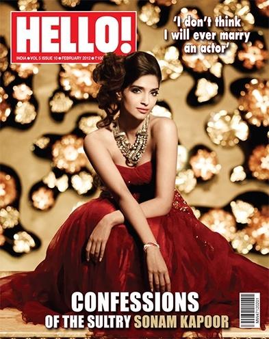 Sonam Kapoor photoshoot for magazine cover