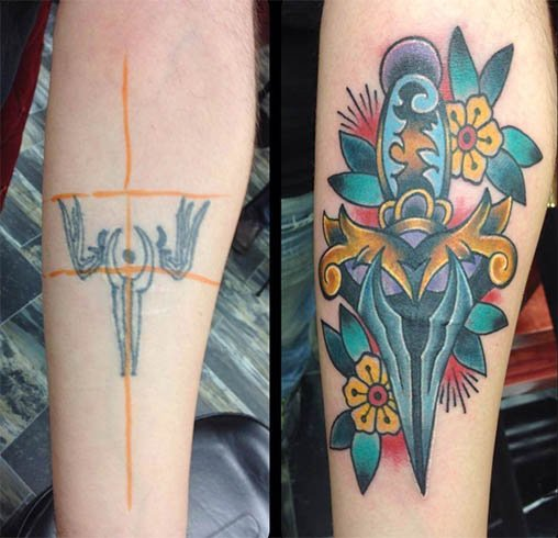 Sword Tattoo Coverup
