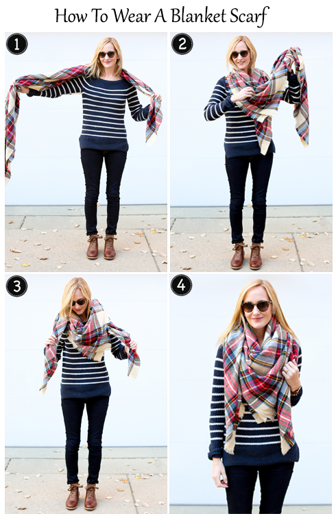Kerchief Style with blanket scarf
