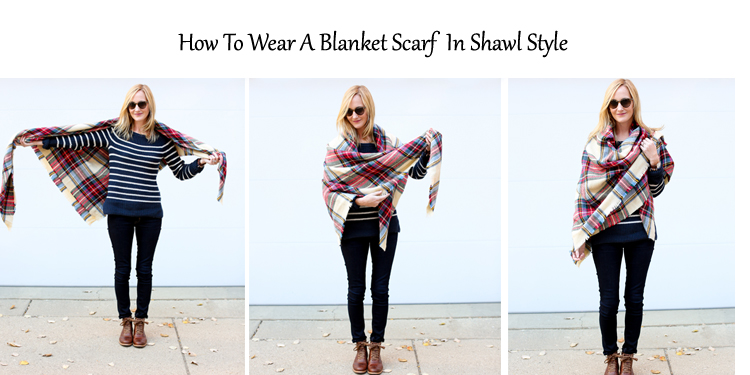 Wear as a Shawl with Blanket Scarf