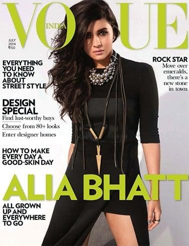 Alia Bhatt on Vogue cover