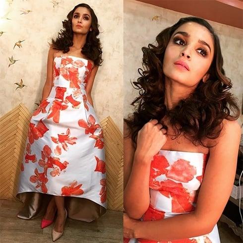 Alia Bhatt in Sachin and Babi high low gown