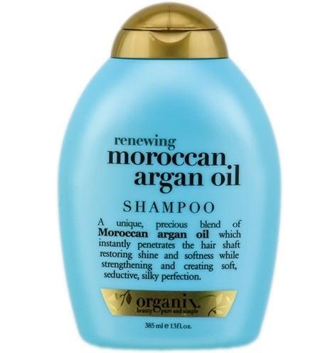 Argan oil blue bottle