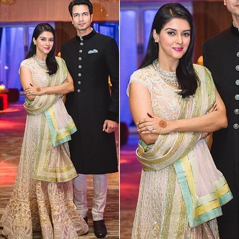 Asin and Rahul Sharma Reception