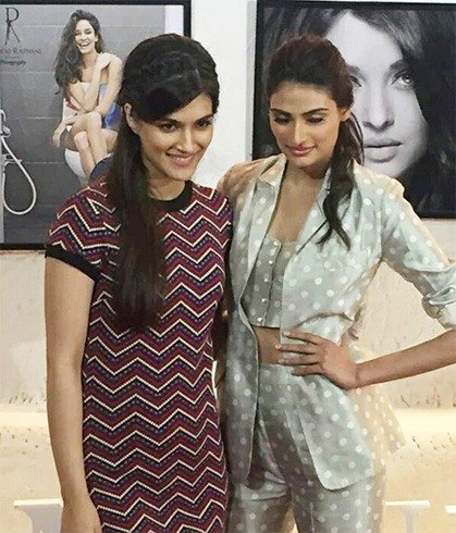 Athiya Ahetty and Kriti Sanon at Dabboo Ratnani Calender launch