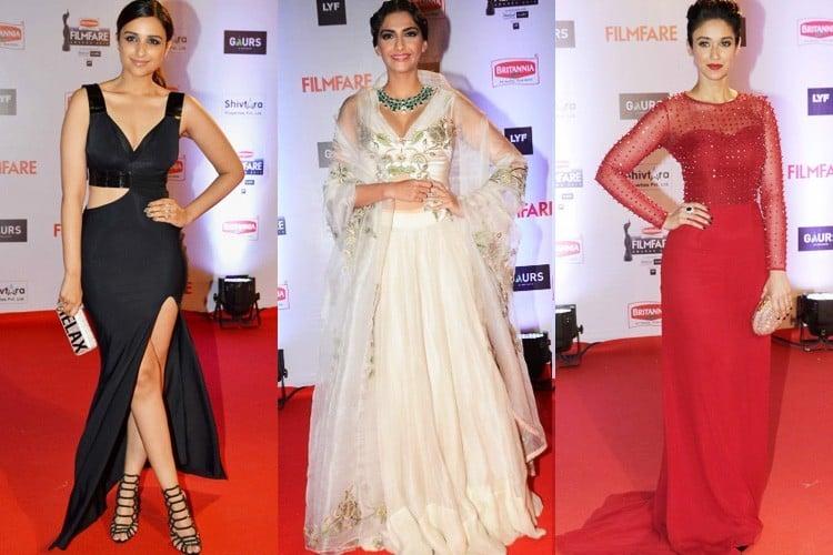 Bollywood Actresses at 61st Filmfare Awards