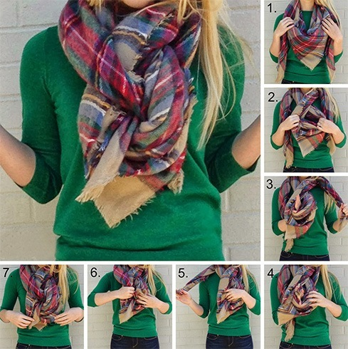 Braid Style with Blanket Scarf