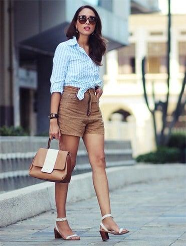 Crop tops high waisted shorts