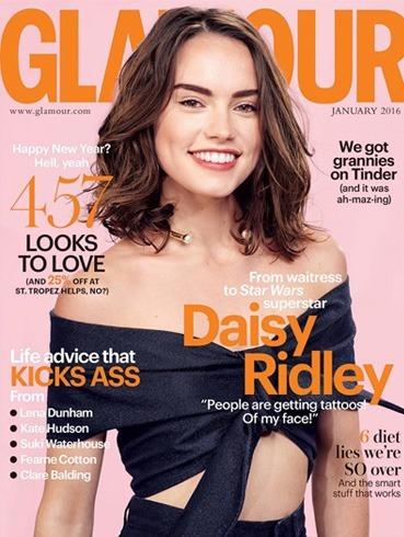 Daisy Ridley on Glamour