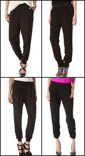 Drapey pants for women