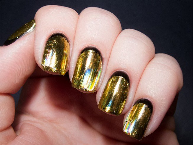 Nail Polish Designs Black And Gold: Black and gold nail design nails ...