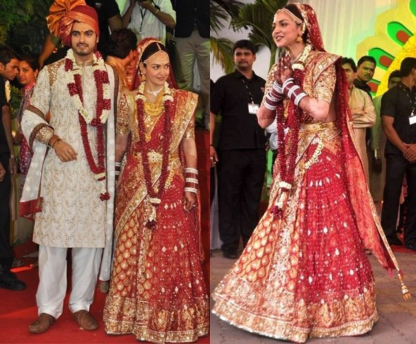 Esha Deol wedding dress