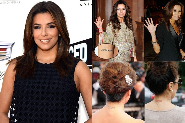 Eva Longoria Tattoos Removed
