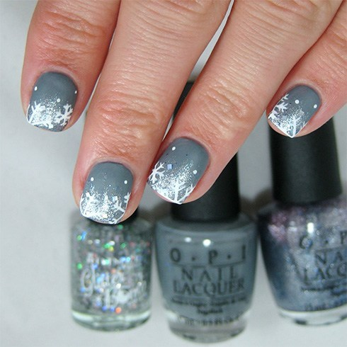 Frosty Nail Art Designs
