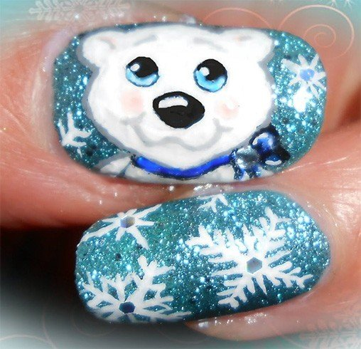 Dazzling chunky frosty nail art for you to flaunt at parties frosty nail art prinsesfo Images