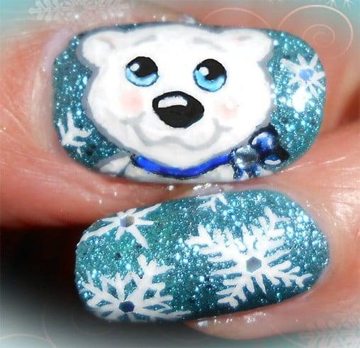 Frosty Nail Art