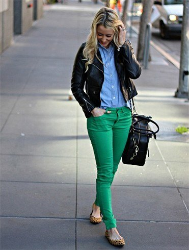 Green denims