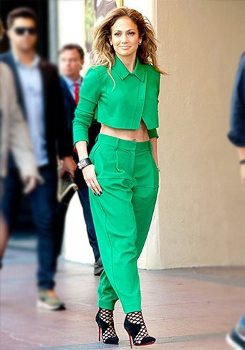 Jennifer Lopez in green dress